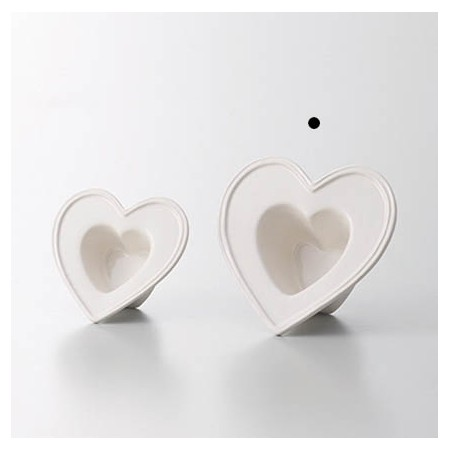 クレイ/Heart Frame_15.5L15W WHITE/240-261-100【01】
