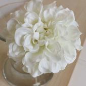 即日★【造花】アスカ/ダリアピック ホワイト/A-31451-1