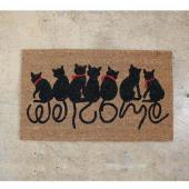 SPICE/COIR MAT RECT WELCOME CAT(45×75cm)/FBGY4050【01】