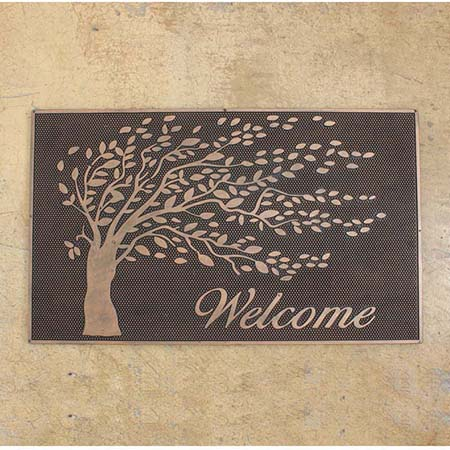 SPICE/RUBBER MAT RECT WELCOME TREE(45×75cm)/FBGY4010【01】