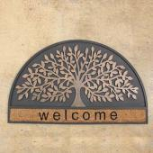 SPICE/RUBBER MAT H/ROUND WELCOME TREE(45×75cm)/FBGY4020【01】