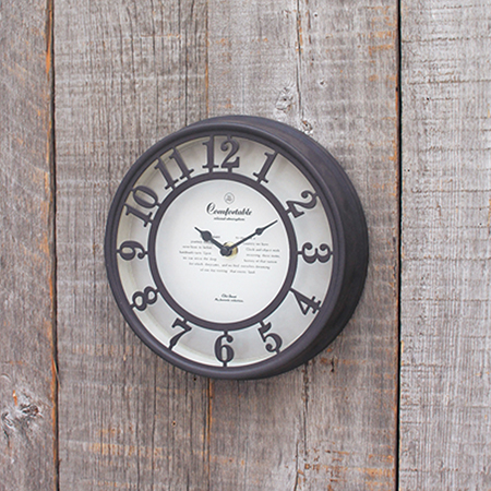 SPICE/OLD STREET WALL CLOCK BROWN/NHE901BR【01】