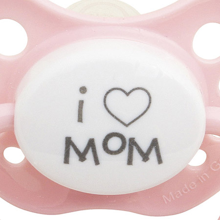 SPICE/PACIFIER I LOVE MOM PK L(5mths+)/LTM001LPK【01】