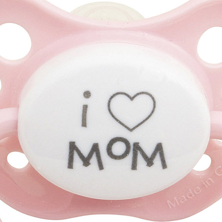 SPICE/PACIFIER I LOVE MOM PK S(0-6mths)/LTM001SPK
