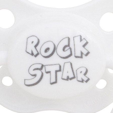SPICE/PACIFIER ROCK STAR WH L(5mths+)/LTM015LWH【01】
