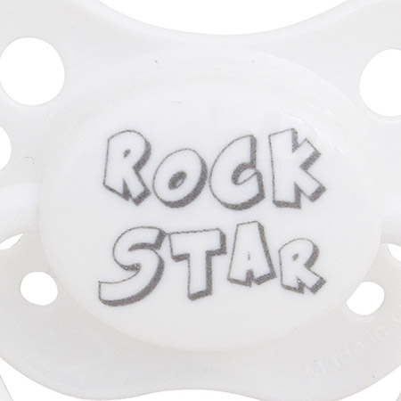 SPICE/PACIFIER ROCK STAR WH S(0-6mths)/LTM015SWH【01】