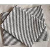 SPICE/NEW DAY TABLE CLOTH 150×180 CHARCOAL GRAY STRIPE/MTLG5050CS【01】